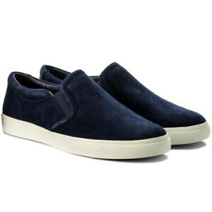 Clarks Glove Puppet Navy Blue Suede Leather Slip On Trainers Shoes Size 4.5 BNWB