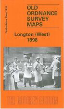 OLD ORDNANCE SURVEY MAP LONGTON WEST 1898