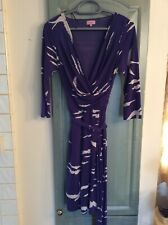Phase Eight Birds & Clouds Faux Wrap Dress Size 10