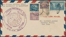 #570-572; #650 ON ZEPPELIN LZ127 1ST ROUND THE WORLD FLIGHT COVER BS6097