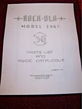 Rock Ola Model 1462 Parts List And Price Catalog For Jukebox Phono Music Unit