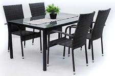 Arezzo Big - Set da giardino con tavolo e sedie impilabili.