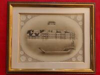 Hand Painted Lake Palace Miniature Painting Udaipur Scene Artwork Framed