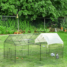 """Outdoor 87"""" Large Dog Kennel Crate Pet Enclosure Playpen Run Cage House w/Cover"""