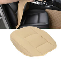 1xUniversal Beige Car Front Seat Cover Breathable PU leather Deluxe Seat Cushion