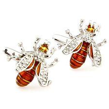 Novelty Wasp Hornet Bee Shape Insect Men'S Cufflinks