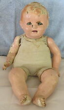 "Antique Unmarked 23"" Composition Head & Limbs Baby Doll~Teeth~Needs Restored~SEE"