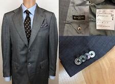 Men Corneliani Blazer Jacket Wool Silk Grey Size L IT50 US UK 40 QAA60