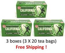 CALIFORNIA DIETERS DRINK - 3 BOXES / EXTRA STRENGTH 20 TEA BAGS