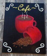 "Restaurant Painting: ""Coffee Cup,""  Original Artwork. 16 X 20. Not a print. Mint"