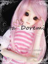 1 4 7-8 BJD Wig MSD DOC SD DZ DOD LUTS Dollfie Doll wigs pink white E62