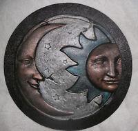 "Sun moon eclipse mold casting concrete plaster mold 11/"" x 3//4/"" thick"