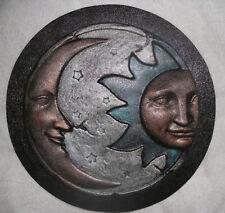 "Sun moon eclipse mold casting concrete plaster mold 11"" x 3/4"" thick"
