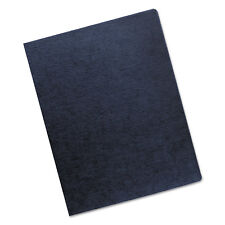 Fellowes Linen Texture Binding System Covers 11-1/4 x 8-3/4 Navy 200/Pack 52113