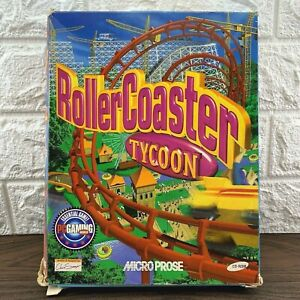 RollerCoaster Tycoon RARE Big Box PC Game 1999 Excellent Windows 95/98 AUS Sell