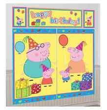 Peppa Pig Birthday Party 5 Piece Scene Setter Over 6ft!