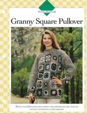 Ladies Granny Square Pullover Sweater Single Pattern Vanna White