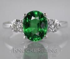 Emerald Diamond Natural White Gold Fine Gemstone Rings