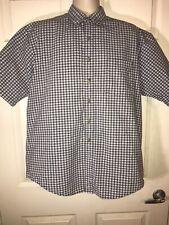High Sierra Mens Large Multicolored Short Sleeve Micro Plaid Button Down Shirt