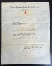 EDDIE COLLINS Signed Typed Letter, Red Sox Letterhead To Manager JSA LOA MT Auto