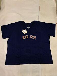 New Women's Original Fanatics MLB Boston Red Sox T-shirt Sz 4XL