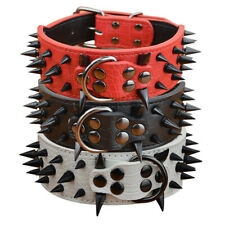 Spiked Studded Dog Collar Rivet Leather Pet Collar Boxer Bulldog Pitbull