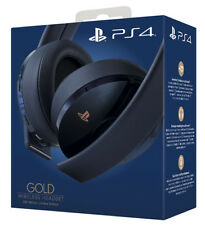 SONY Playsattion 4 PS4 Gold Wireless Headset - 500M Limited Edition Cuffie