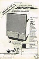 Publicité advertising 1972 Le Chauffage Mobile Therm'x