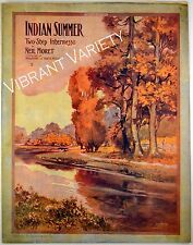 Indian Summer Two-step By Neil Moret 1909 sheet music Art By Starmer