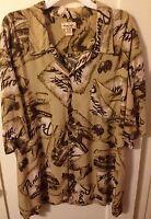 New Men's Panama Jack Island Rum Pirate Buried Treasure Hawaiian Aloha Shirt 3XL