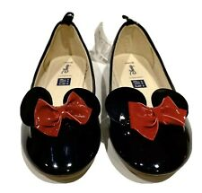 NWT Gap Girl's Disney Minnie Mouse Black Red Ballet Flat Shoe SIZE 13 Disneyland