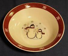 "Royal Seasons Stoneware Snowman Soup Bowl 6 3/4"" Cereal Christmas Dinnerware"
