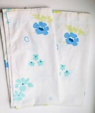 1950s Vintage Crib Sheets (2 Pair) Turquoise Floral