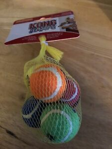 Kong SqueakAir Tennis Ball Dog Toy - Multicolor - XS - 5ct