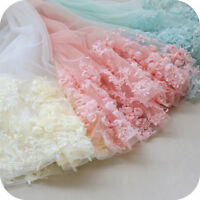 Chiffon Evening Bridal Dress Lace Edging Flower Plant 3D Costume Tulle Ribbon 1M