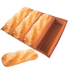Subway Silicone Bread Forms Sub Roll Hot Dog Bread Molds Non Stick Bakery Tray