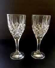 Vintage Crystal Wine Goblets