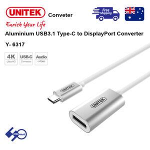 Unitek (Y-6317) Aluminium USB3.1 Type-C to DisplayPort Converter