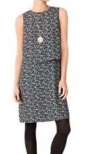 Kate Spade Saturday 3187 Wild Floral Print Swish Sleeveless Shift Dress Sz 6