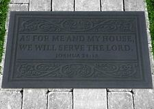 Christian Door Mat - As For Me And My House We Will Serve The Lord By Cbd