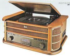 Dual NR 50 DAB Komplettanlage Plattenspieler Nostalgie Digitalradio CD Encoding