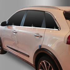 Chrome Window Accent Garnish Molding Trim Line Sill 4p For  Kia Niro 2017-2018