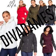 Brave Soul Hood Quilted Coats & Jackets for Women