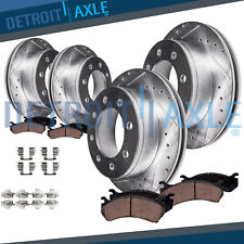 Front Rear Brake Rotors Ceramic Pads 4WD 2000-2004 Ford Excursion F-250 F-350 SD