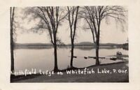 Postcard RPPC Northfield Lodge Whitefish Lake Quebec Canada