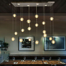 Remote dimmer LED Bubble Crystal ball Ceiling Light Living Room Stair Chandelier