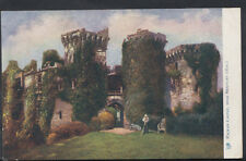 Wales Postcard - Artist View of Raglan Castle, Near Newport   RS5199