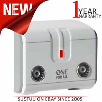 One for All SV9602│TV or Radio Signal Booster Amplifier│Two Way Digital Freeview