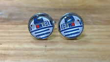R2D2 Inspired Cufflinks, Handcrafted by NJD