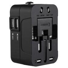 World Wide Universal Travel Adapter Multi Plug Charger with Dual USB 2 Ports